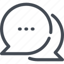 box, bubble, chat, communication, message, round icon