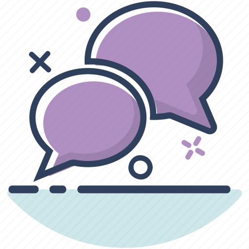 bubble, chat, communication, double, line filled, message, talk icon