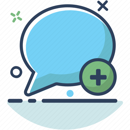 add, bubble, chat, chat icon, message, plus, talk icon