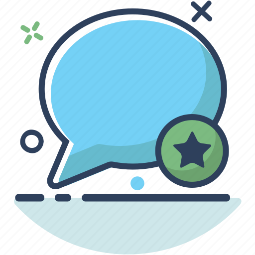 bubble, chat, communication, favorite, message, star, talk icon