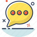 bubble, chat, communication, detail, message, talk, type icon