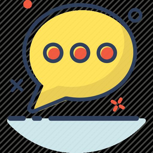 bubble, chat, communication, detail, message, talk, type icon