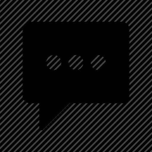 bubble, chat, conversation, message, test icon