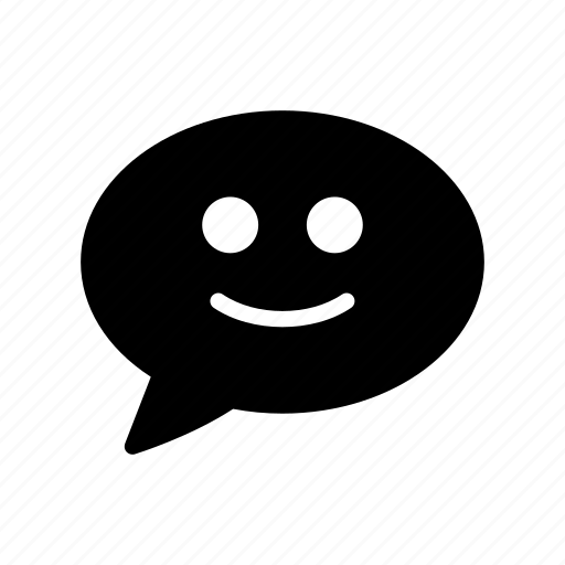 bubble, chat, emoji, face, smiley icon