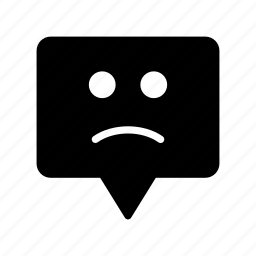 bubble, face, message, sad, smiley icon