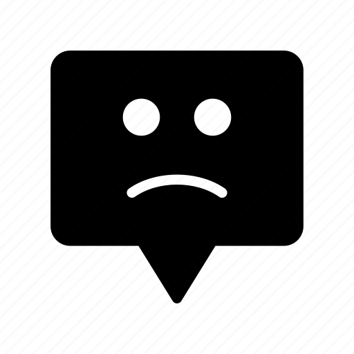 Bubble, face, message, sad, smiley icon - Download on Iconfinder