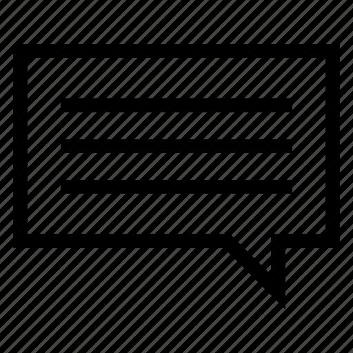 bubble, chat, communication, conversation, message, talk, thinking icon