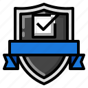 check, mark, passed, shield icon