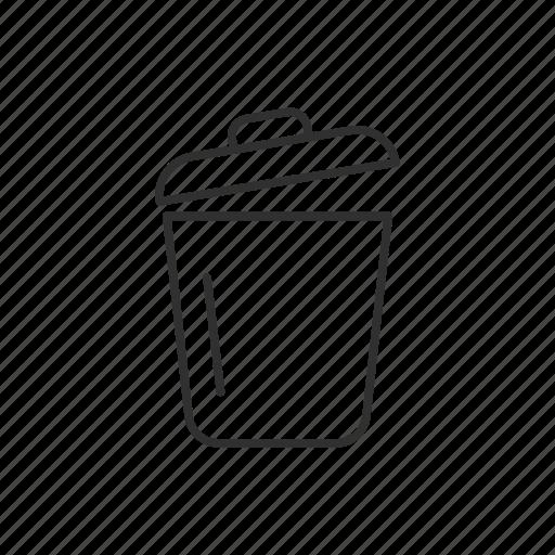 delete, erase, remove, trash, trash bin icon