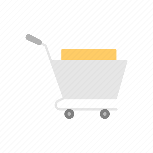cart, online shop, push cart, push cart with item, shopping icon