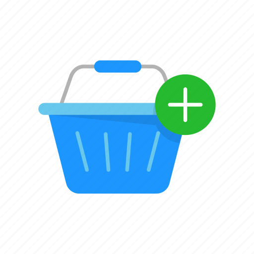 add item, basket, grocery basket, online shopping icon