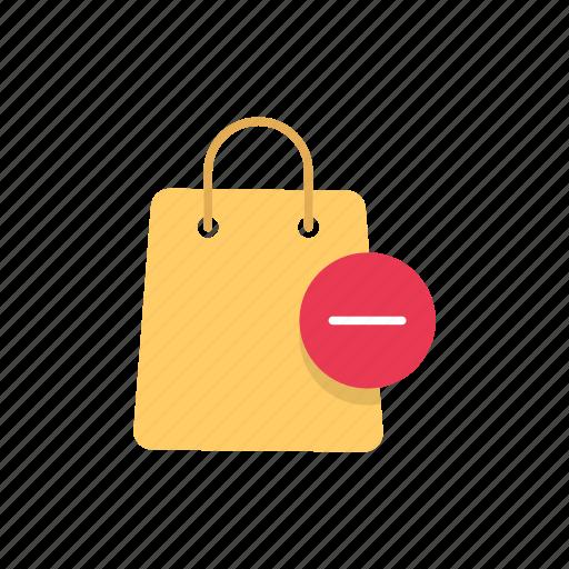 bag, online shopping, paper bag, remove bag icon