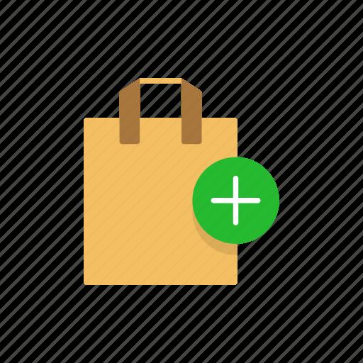 add bag, bag, online shopping, shopping, shopping bag icon
