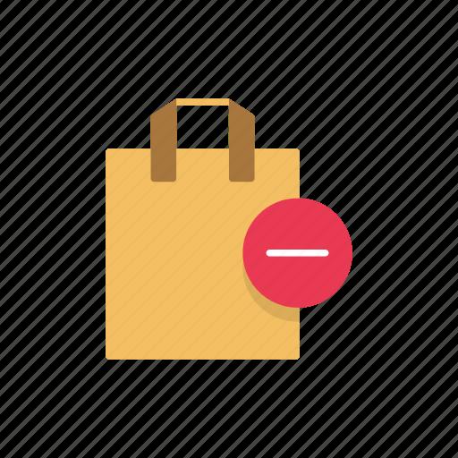 bag, online shopping, remove bag, shopping, shopping bag icon
