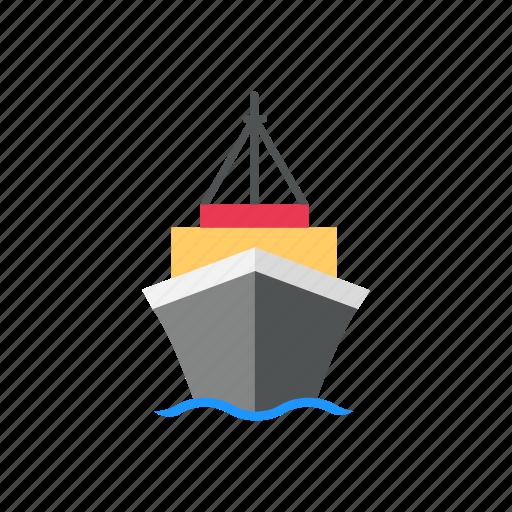 barge, boat, ship, shipping icon