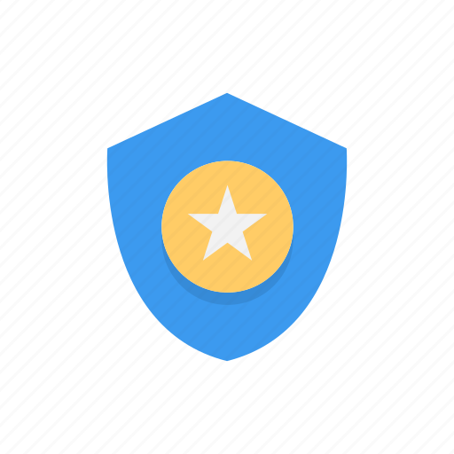 badge, secured, star, verified icon