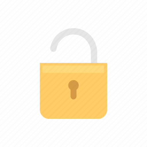 padlock, safety, security, unlocked icon