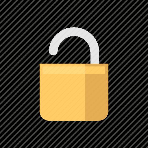 padlock, security, unlock, unsafe icon