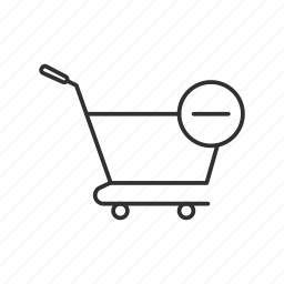 cart, delete from cart, online shopping, remove from cart, shopping icon