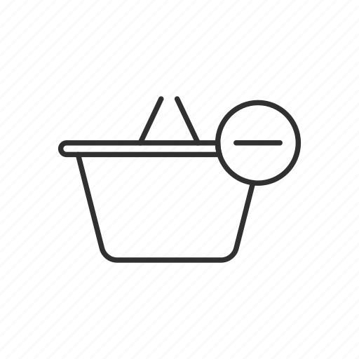 basket, online shopping, remove from basket, shopping icon