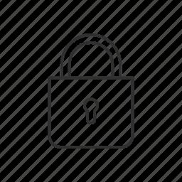 lock, padlock, private, secured icon