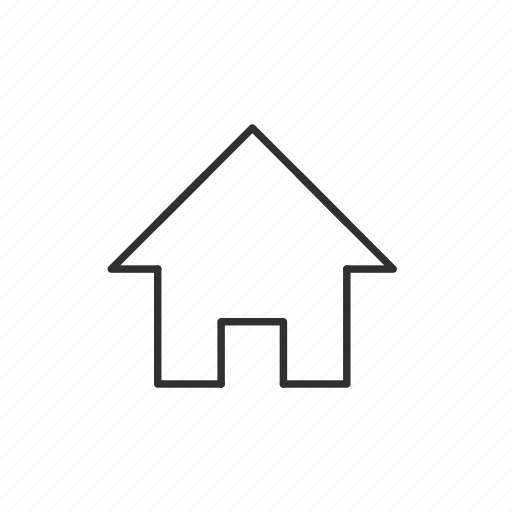 back, bulding, home, house, property icon