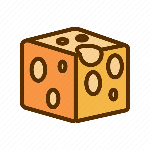 cheddar, cheese, cube, food, squere icon
