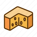 cheddar, cheese, dairy, foodstuff, snack icon