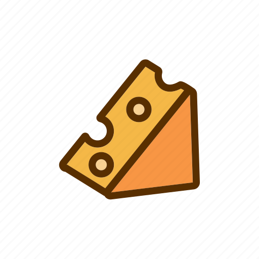 Cheddar, cheese, foodstuff, meal, portion icon - Download on Iconfinder