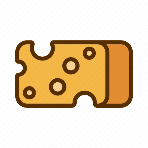 cheddar, cheese, meal, piece, portion icon