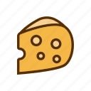 cheddar, cheese, meal, portion, taste icon
