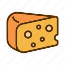 cheddar, cheese, piece, productdelicious icon