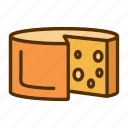 cheddar, cheese, food, foodstuff, slice icon