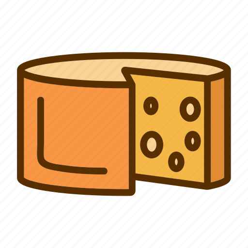 Cheddar, cheese, food, foodstuff, slice icon - Download on Iconfinder