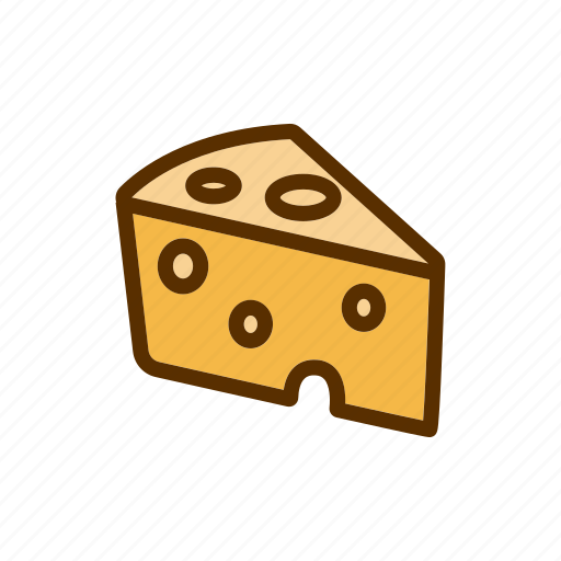 cheddar, cheese, food, piece, slice icon