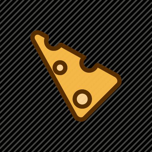 cheddar, cheese, food, slice, tasty icon