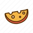 cheddar, cheese, foodstuff, piece, slice icon