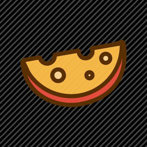 cheddar, cheese, foodstuff, piece, slice icon