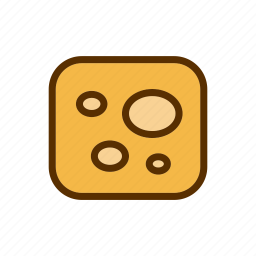 cheddar, cheese, foodstuff, piece, squere icon