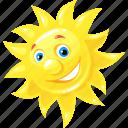 emoticon, happy, summer, sun