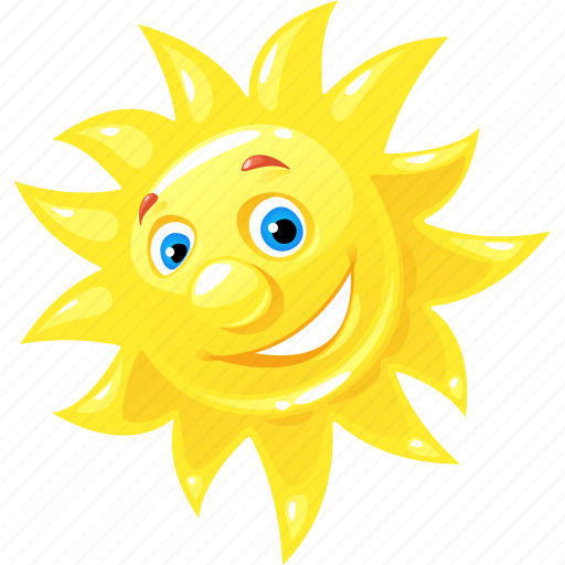 emoticon, happy, summer, sun icon