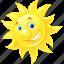 emoticon, happy, summer, sun icon