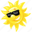 emoticon, happy, summer, sun, sunglasses icon