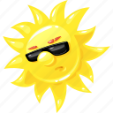 emoticon, summer, sun, sunglasses icon