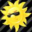 emoticon, summer, sun, sunglasses icon