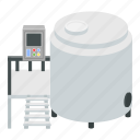 pasteurization, pasteurization tank, container, milk, cooling tank