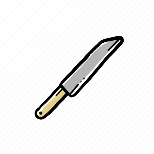 chef, elements, hand drawn, knife icon