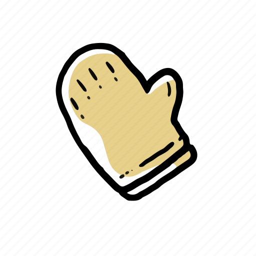 chef, cooking gloves, elements, hand drawn icon