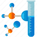 chemistry, experiment, lab, laboratory, molecule, test, tube icon