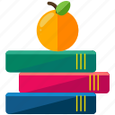 apple, books, chemistry, learn, studies, study icon
